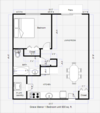 GM 1 BEDROOM FLOOR PLAN
